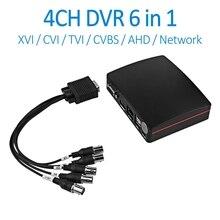 Doerguin 4CH TVI XVI CVI AHD аналоговый сетевой цифровой видеорегистратор 6 в 1 2MP супер мини-видеорегистратор XMEYE App TF карта USB HDD Запись