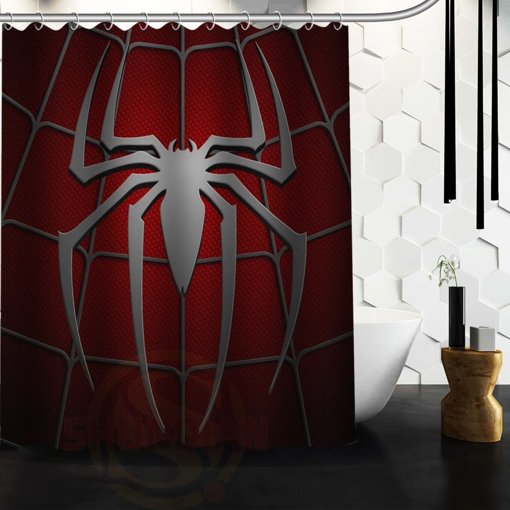 online buy wholesale spiderman curtains from china spiderman custom home decor spiderman movie fabric moden shower curtain bathroom waterproof 66x72