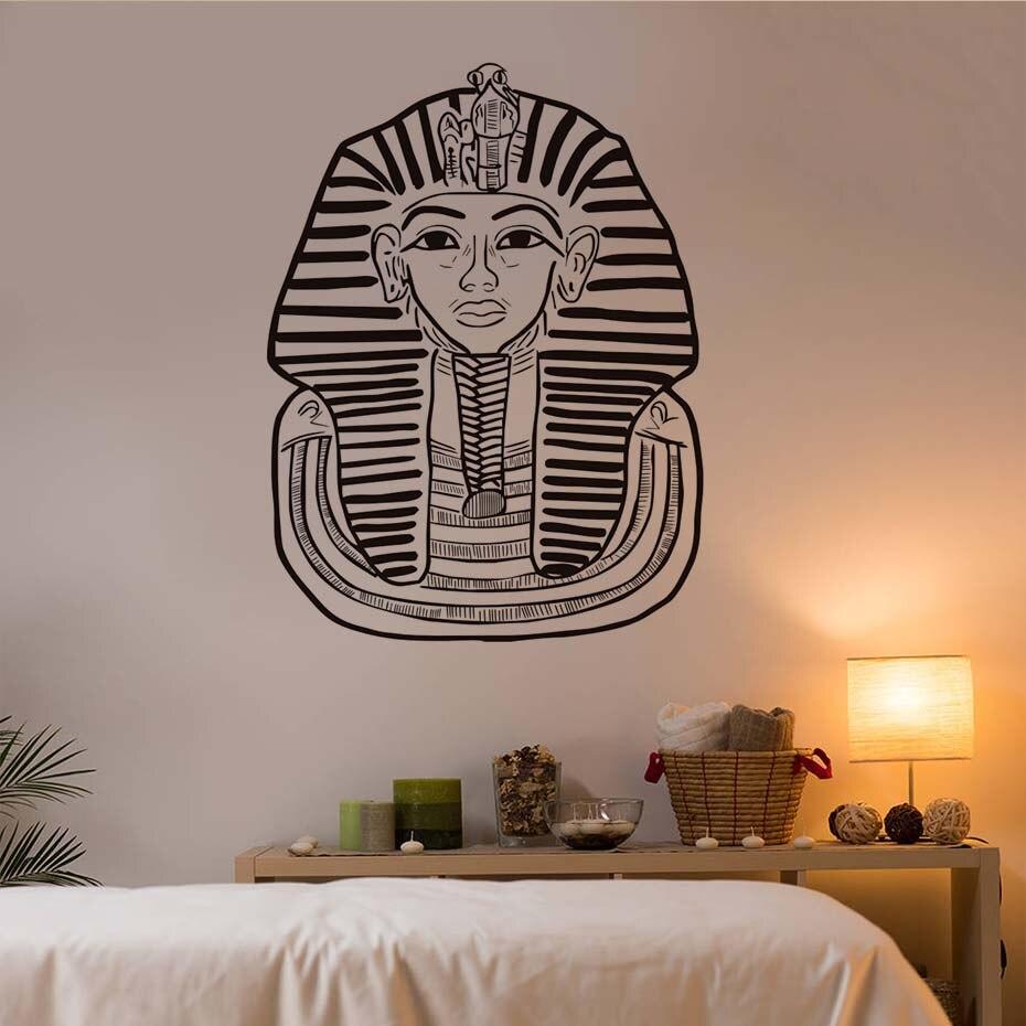 DCTOP Egyptian Tutankhamun Wall Sticker Living Room Home Decor Office Studio Background Wall Decor Removable Vinyl Art Sticker