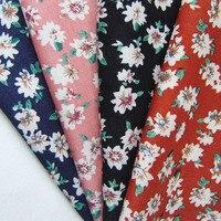 1 Yard Free Shipping Fashion Classic Flowers French Thin Poplin Fabric Retro Printed Apparel Fabric DIY
