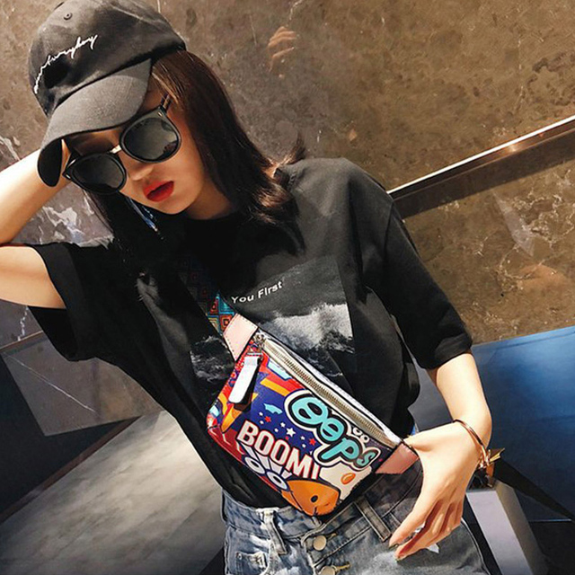 CCRXRQ Waist Bag For Women Fashion Ladies Chest Bag Handy Belt Bags Female Hip-hop Bags Banana Phone Coin Purse Waist Pack Girl