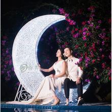 Свадебный реквизит Европейский стиль железная луна лодка тема свадебный сценический макет съемки реквизит