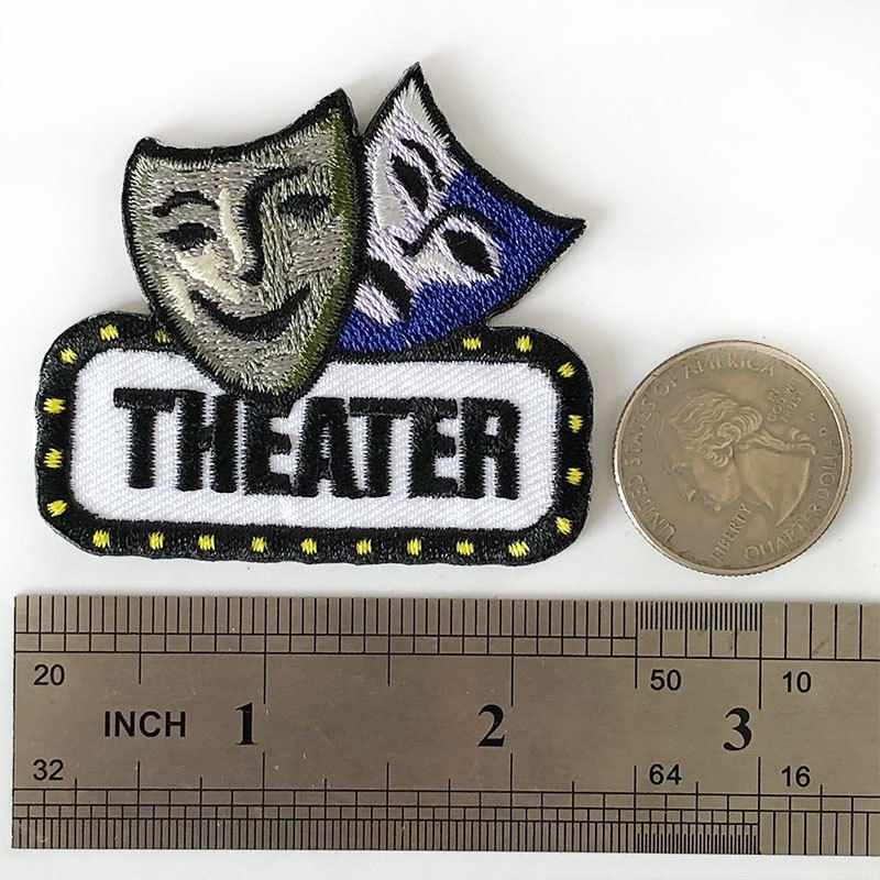 Comedy and Tragedy Drama Acting Patch Applique Iron on
