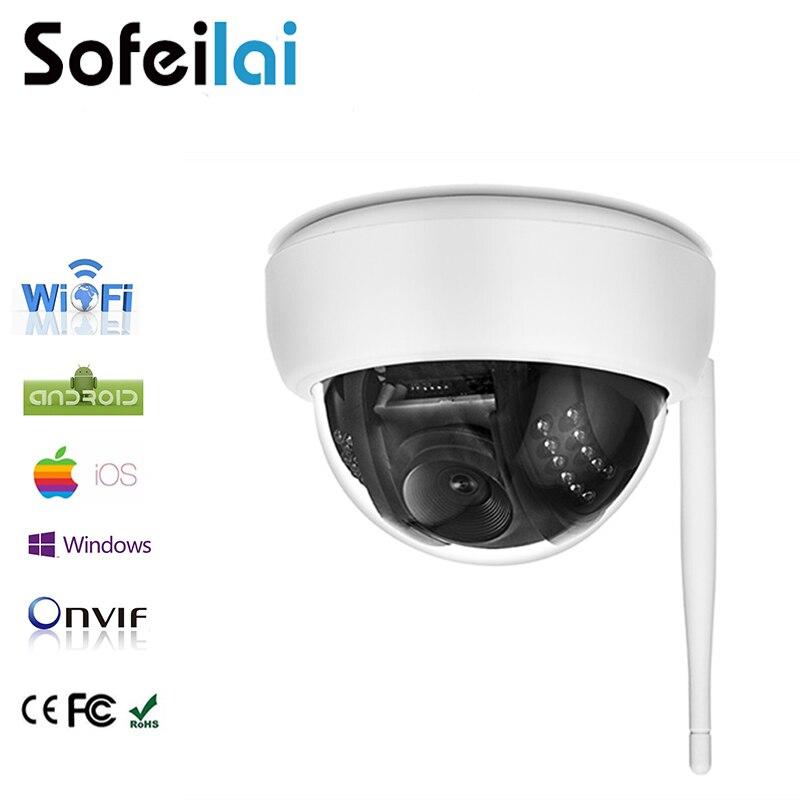 1080 p HD Sans Fil carte sd Dôme IP Caméra DE VIDÉOSURVEILLANCE WiFi vision nocturne infrarouge onvif CAMÉRA DE VIDÉOSURVEILLANCE petite IR-CUT p2p surveillance IPCam