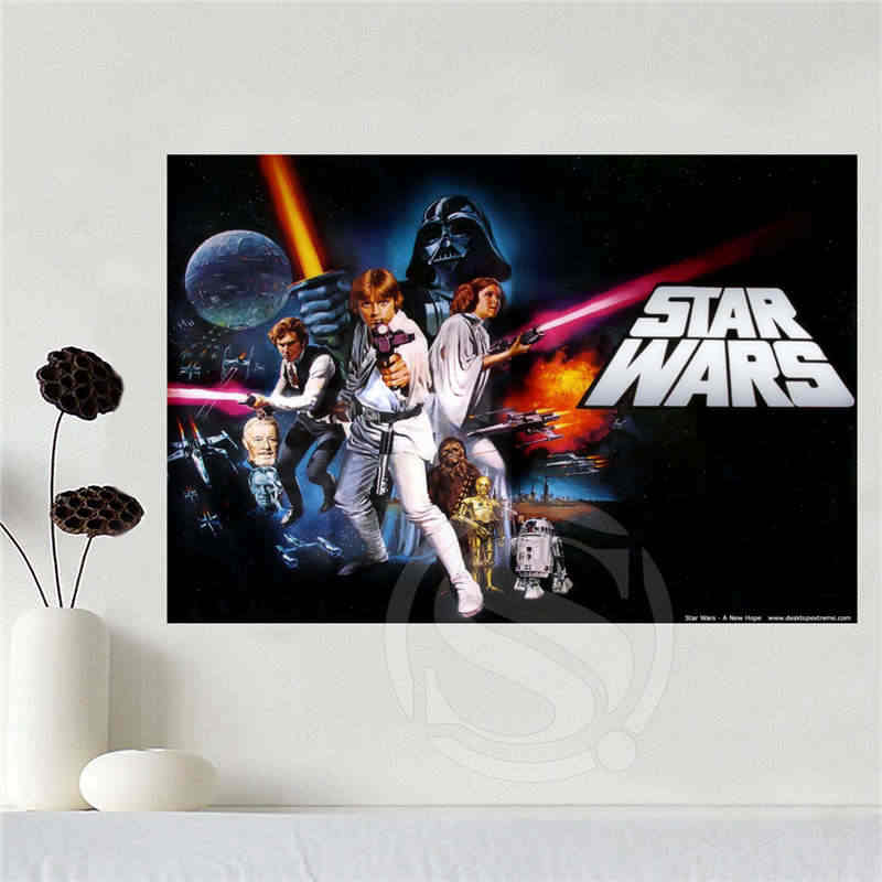 Custom canvas star wars poster home decoration cloth fabric wall poster print Silk Fabric Print  SQ0619