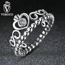 Моя аутентичные корона обручальные королева принцесса стерлингового серебра кольца кольцо дизайн