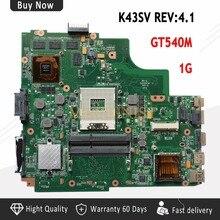 REV: 4,1 8 piezas de memoria de vídeo de la placa base para ASUS K43SV A43S K43S X43S P43S P43SJ K43SJ A83S portátil GT540M USB3.0 envío gratis