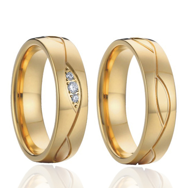 Vintage Wedding Band Rings Perfect Brazilian Jewelry Gold Color Alliances Promise For Women