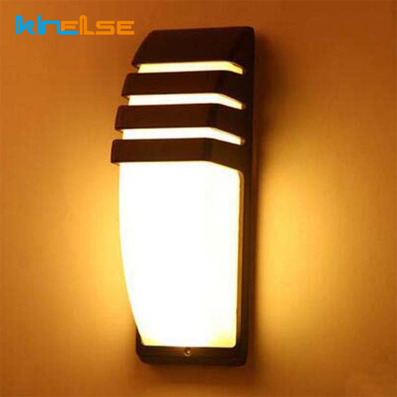 LED Wall Lamps Waterproof IP65 Porch Light AC90 260V Aluminum Courtyard  Modern 9W Retro Wall