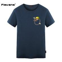 Flevans The Legend of Zelda Link In Pocket Creative Design Printed Casual T Shirt Men Brand T-shirt Cotton Tee Shirt