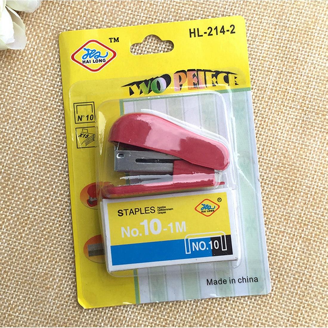 FangNymph Mini Stapler Kawaii Super Mini Small Stapler Staples Set Office Binding Stationery School Supplies Random Color