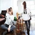 Vixx женщин Балахон kpop Vixx белый одежда осень одежда с длинным рукавом пальто Корейский стиль женщин рубашка толстовка Outerwears
