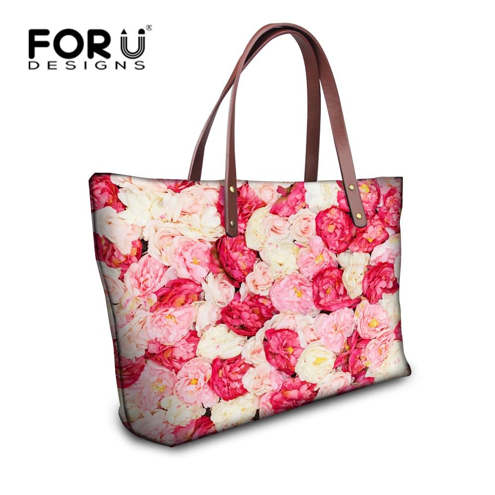 Fashion Women Floral Handbags Large Bags Handbags Women Famous Brands Tote Purse Sac a Main Designer Handbags High Quality