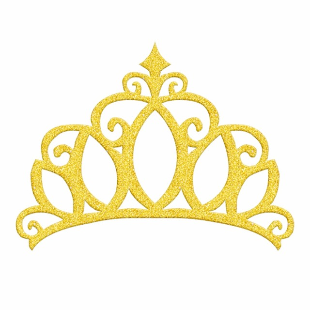 20pcs Glitter Silver Gold Hollow Crown Souvenirs Happy Birthday Party Cake Toppers Wedding Cupcake Topper Decoration Laser Cut