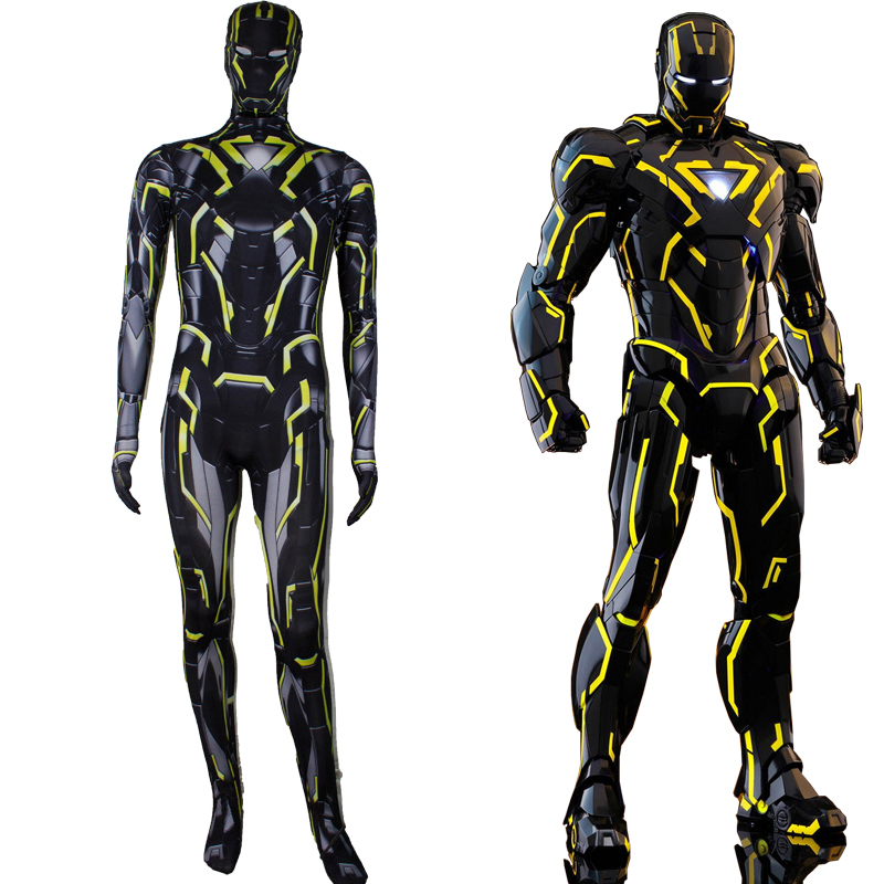 Iron Man 2 Tron Legacy 2.0 Costume Cosplay Tron Legacy Of Light Speed Huang MK6 Integral Suit Halloween Costume For Adult Kids