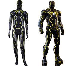 цены Iron Man 2 Tron Legacy 2.0 Costume Cosplay Tron Legacy Of Light Speed Huang MK6 Integral Suit Halloween Costume For Adult Kids