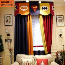 Children Cartoon Curtains For Bedroom Ready Made Kids Boy Living Room Decoration