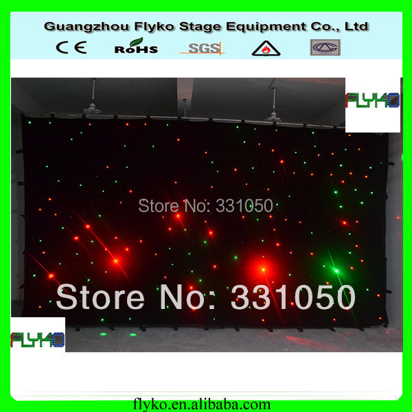 Free shipping 3X6M 18pcs every sqaure flexible RGB star curtain|curtain free shipping|curtains curtain|curtains stars - title=