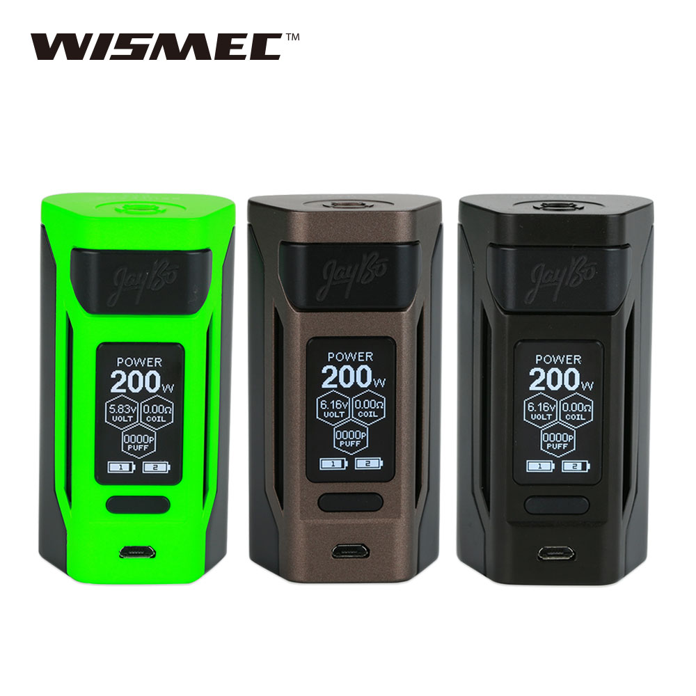 Original WISMEC Reuleaux RX2 20700 TC MOD 200W Output 1.3inch Large Screen RX2 Box Mod for WISMEC Gnome Tank No 20700 Battery