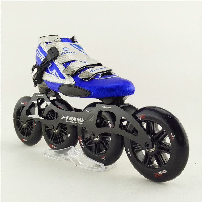 Carbon fiber racing professional speed skating shoes roller skating adults/child inline skate with 4x120 big wheel