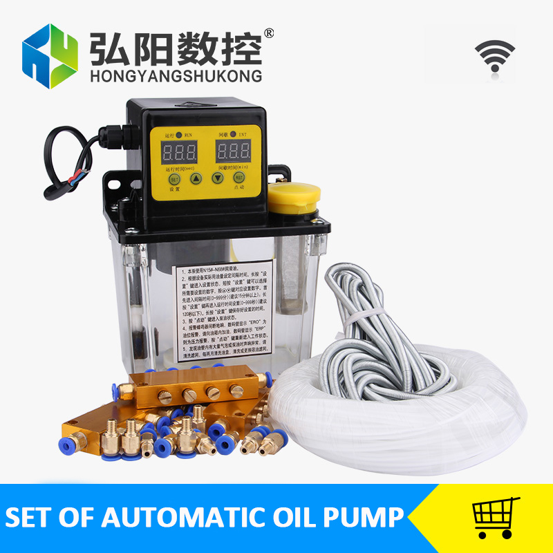 FACTORY SELLING Full set 1L AC Electric Auto Lubrication Pump CNC Digital electronic Timer Oil Pump AC220V manka care 110v 220v ac 50l min 165w small electric piston vacuum pump silent pumps oil less oil free compressing pump