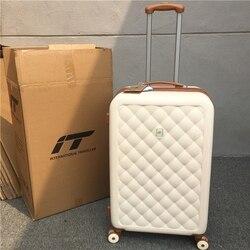 Exportação para o reino unido abs rolando bagagem roda trole mala de viagem marca luxo saco de embarque tronco