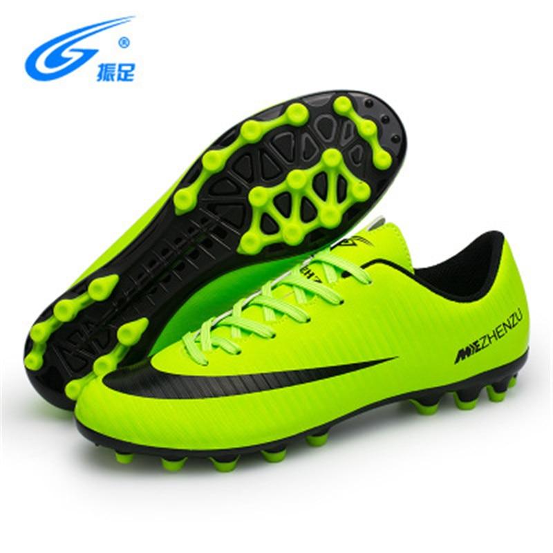 e4fb2fb7 Zhenzu Дети Мужская домашняя обувь кроссовки TF Turf бутсы спортивные  кроссовки футбольные бутсы chuteira Futebol