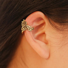 1pc Women Vintage Punk Metal Ear Cuff Wrap Goldfish Ear Clip Silver Gold Color Earrings Piercing Jewelry(China)