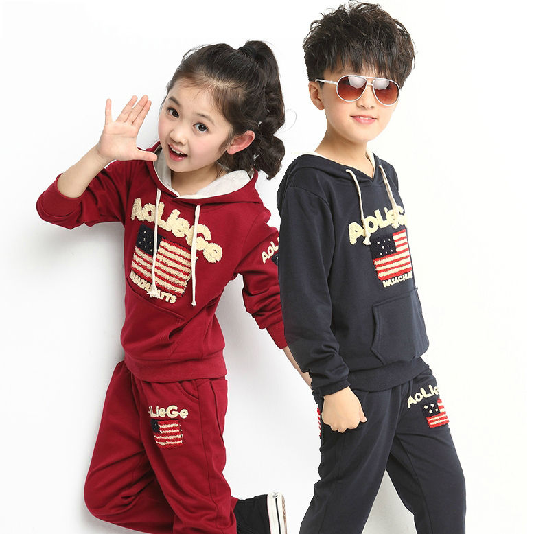 Vintage American Flag Girls Autumn Winter Long Trousers Casual Track Trousers