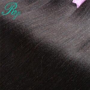 Image 5 - Riya Hair Brazilian Light Yaki Human Hair 3 Bundles 100% Human Hair Weave Natural Color 100% Remy Hair Extensions Free part