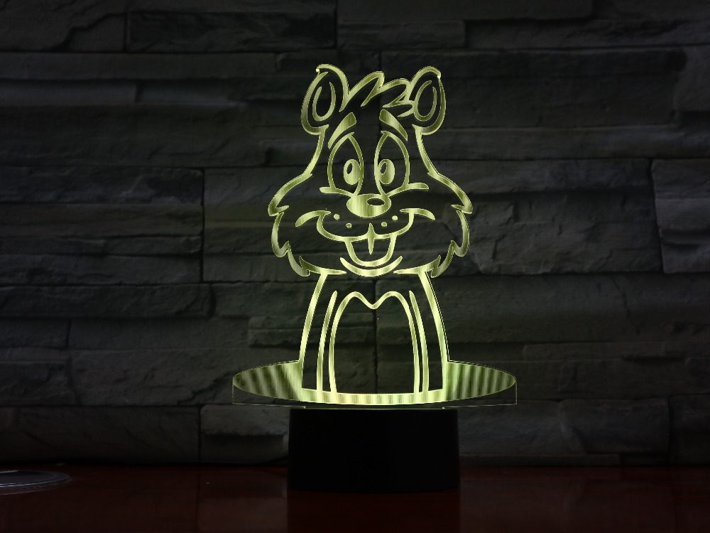 Cartoon Rabbit 3d Lamp Optical Illusion 7 Colorful Table Lamp Led Night Light Engraved Acrylic Nightlight Crafts Kids Gx1395 Waterproof Lights & Lighting Shock-Resistant And Antimagnetic