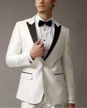 MS24 Ternos Masculino 2017 Custom Made Men Suits For Wedding White Men Business Suits Fashion Groom