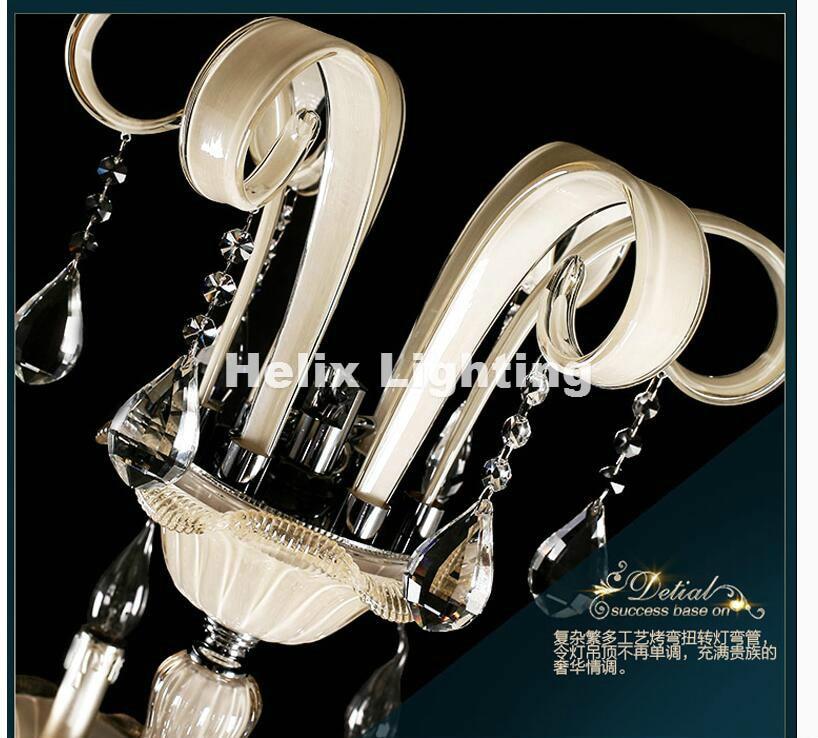 Champagne Whitel D150cm H200cm 32 Arms E14 LED Royal Crystal - Inomhusbelysning - Foto 4