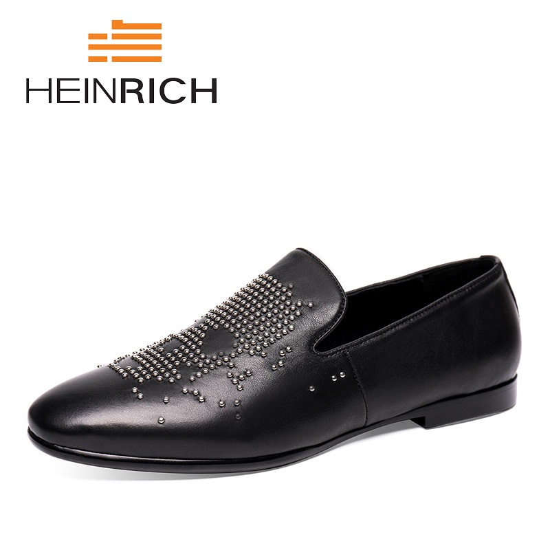 HEINRICH 2018 New Fashion Sneakers Men Spring Autumn Top Quality Loafers Spikes Casual Dress Flats Shoes Sapato De NoivaHEINRICH 2018 New Fashion Sneakers Men Spring Autumn Top Quality Loafers Spikes Casual Dress Flats Shoes Sapato De Noiva