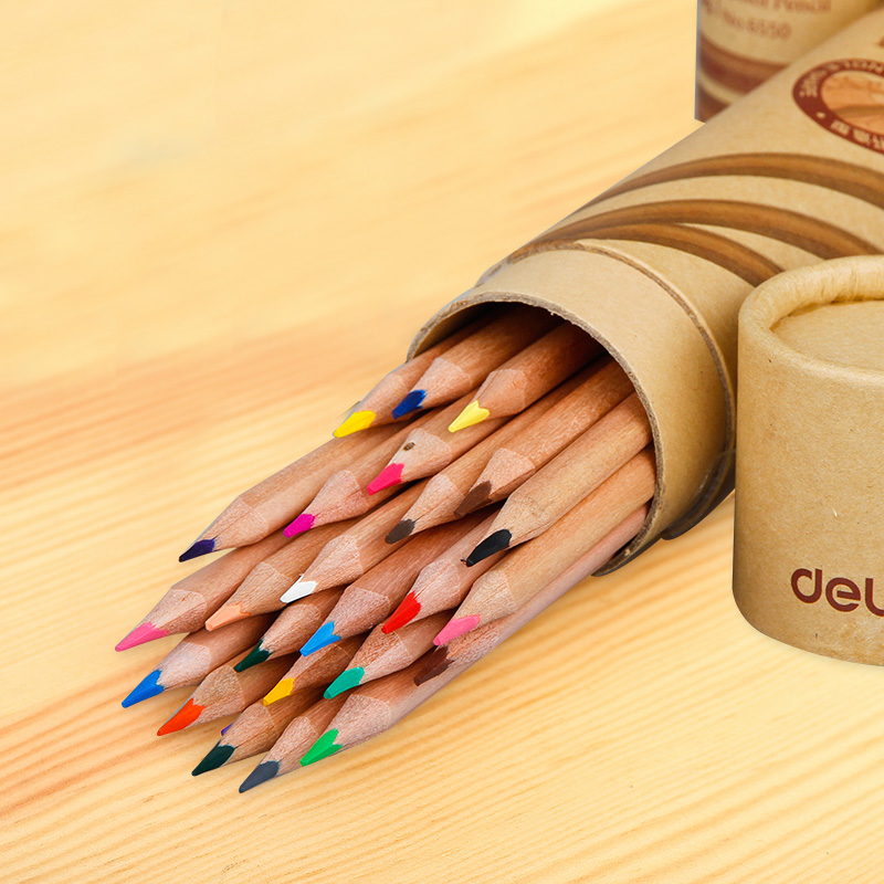 Deli Stationery Art Supplies Nature Wood Colored Pencils Drawing Sketch Pencils Office School Supplies(12/18/24/36/48 Colors) deli colored pencil nature wood drawing pencils art accessories 18 colors lapis de cor professional pencils cute stationery