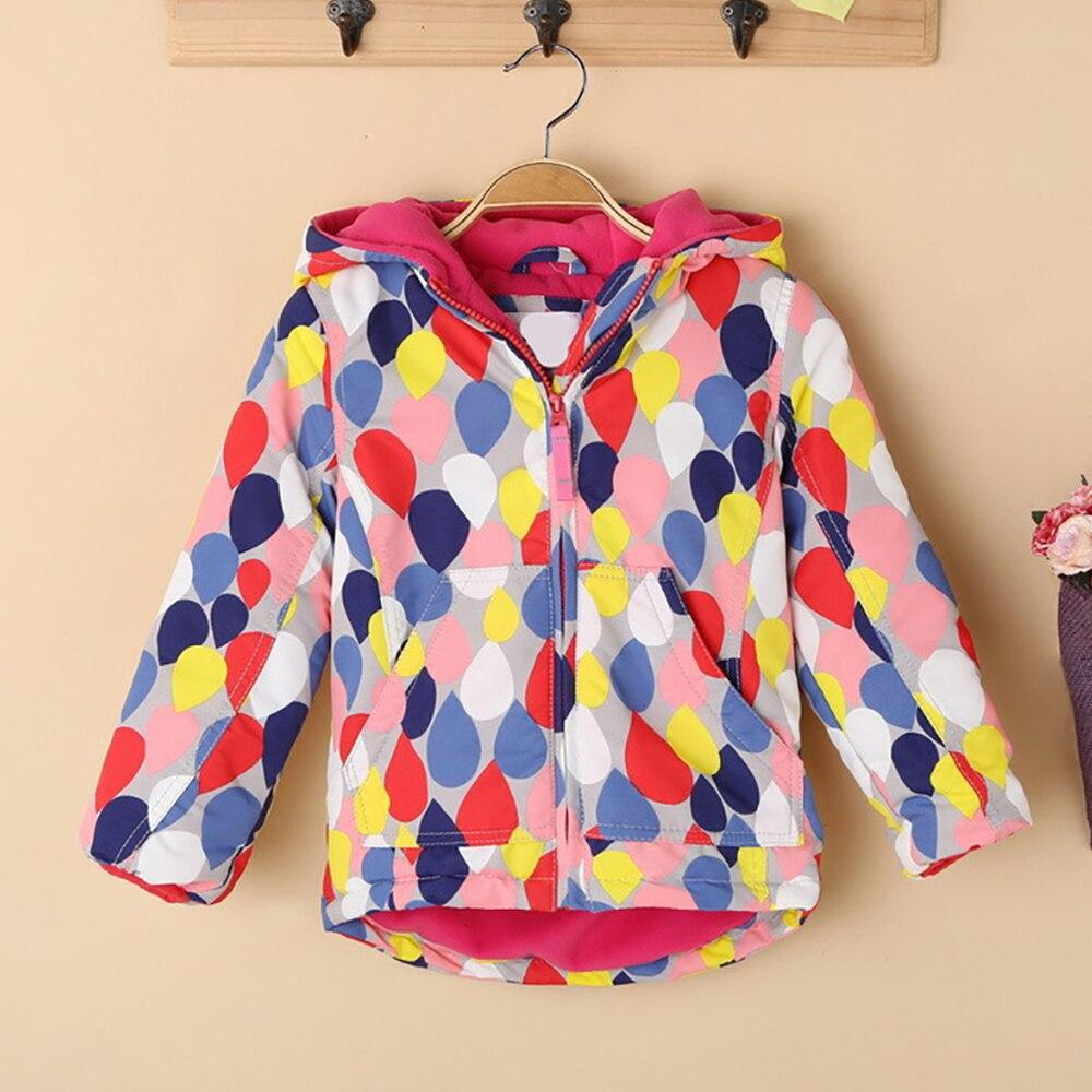 5c70502c145 M126 Fashion Wave point Spring Autumn Windbreaker Child Thicken Padded  Winter Jacket Hoodies Keep Warm Boy Coat Girl Top Outwear