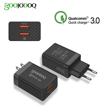 QC Quick Charge 3.0 USB Charger Dual USB Power Adapter for Mobile Phone EU Charger Adapter for Samsung Xiaomi QC 3.0 USB Charger