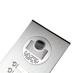 """Image 3 - Ücretsiz gemi 7 """"görüntülü kapı telefonu interkom sistemi RFID erişim kapı zili kamera için 2 / 3 / 4 aile daire + elektrikli Strike kilit"""