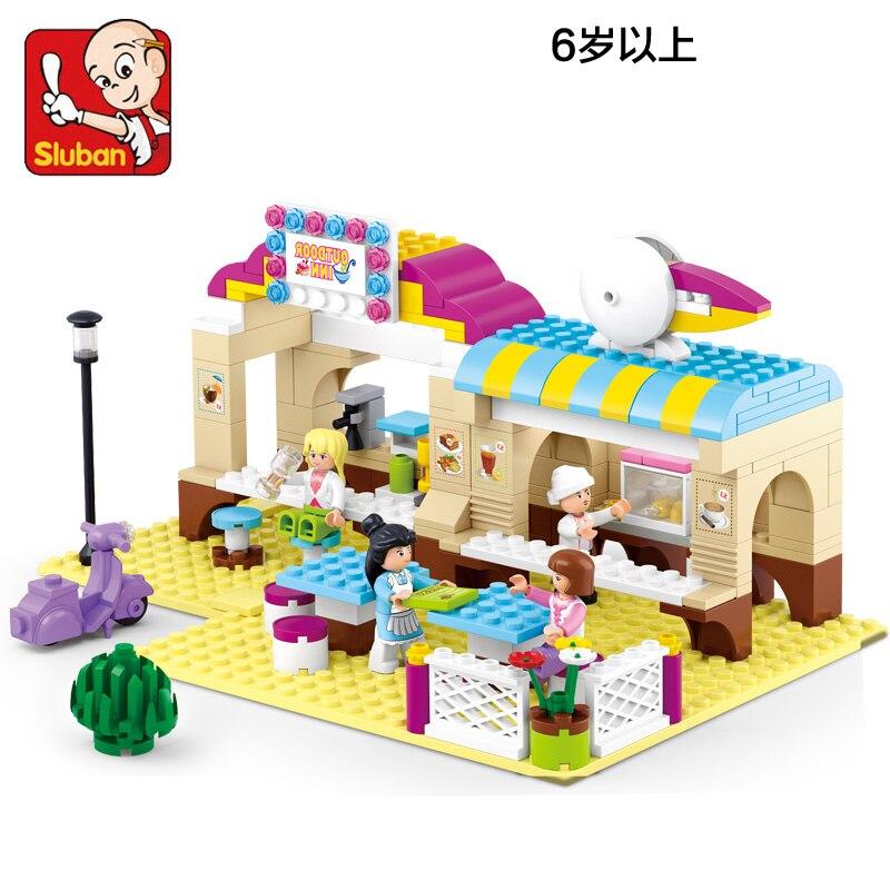 Sluban Model Building Compatible lego Lego B0530 267pcs Model Building Kits Classic Toys Hobbies Girl Alfresco Dining