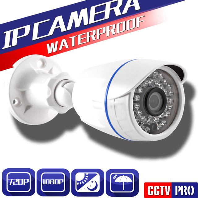 XMEYE HI3516C Bala de Segurança CCTV HD 1080 P Câmera de 2MP IP Ao Ar Livre Câmera IP 720 P Com 1080 P Lente 3.6mm (48 V Cabo POE Opcional)