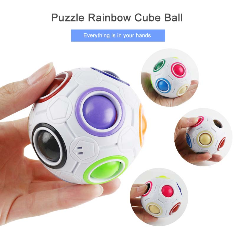 New Stress Reliever Magic Rainbow Ball გართობა Magic - ფაზლები - ფოტო 4