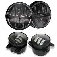 2x 7 Inch Round LED Headlight Kit 2x 4 Fog Lights Driving Lamp For 2007 2015