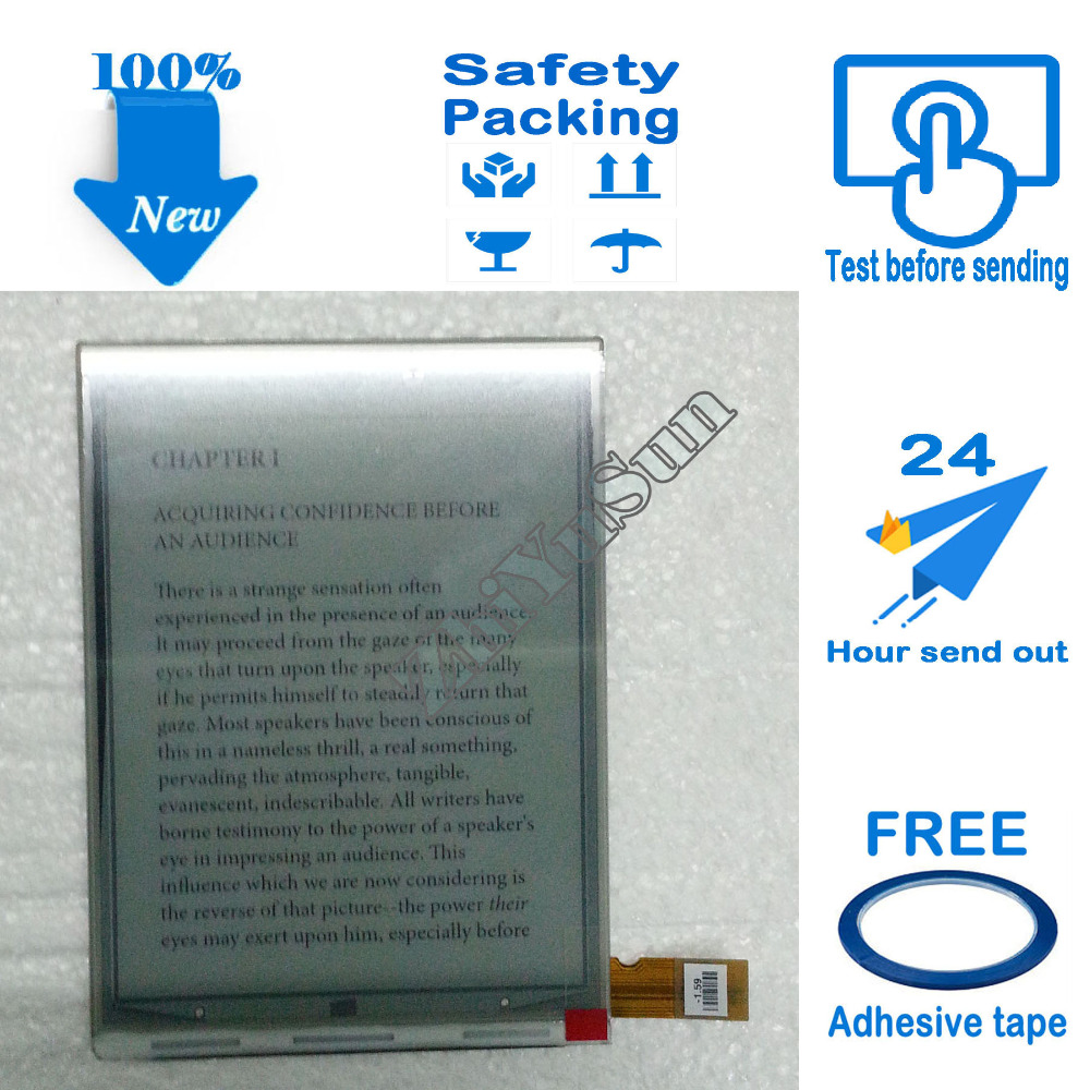 Free Adhesive Tape, epaper PVI 6 inch ED060SCE ED060SCE(LF)T1 E-ink display LCD screen for NOOK2 SONY PRS-T2 SONY PRS-T1,100% pa080xs1 lf lcd display screens