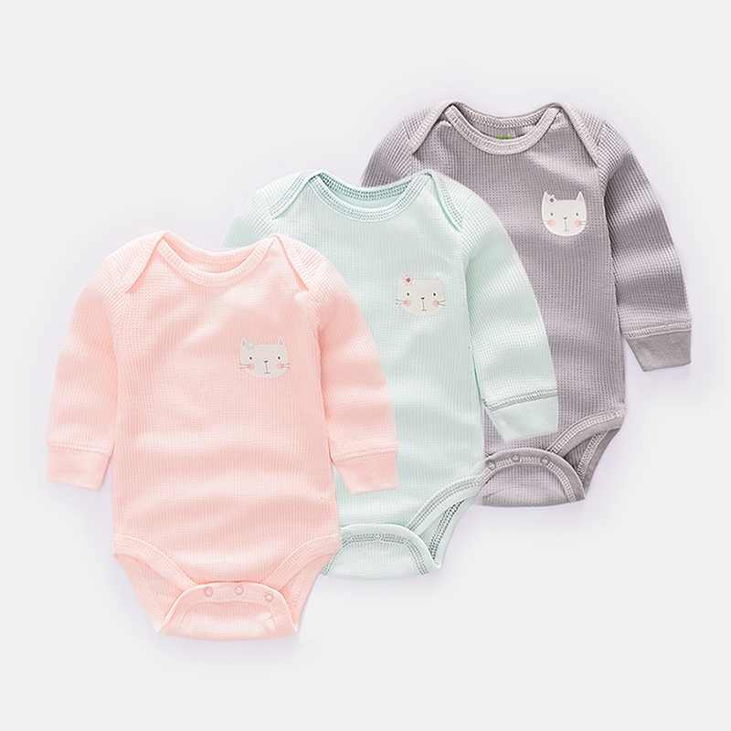 3 teile/los langarm baby Body & One-Pieces Mädchen infant insgesamt Kleidung Baumwolle Baby junge sleepsuits Kleidung Overall