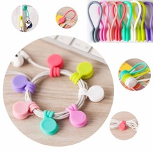 1pcs Magnet Cord Holder Earphone earbud headset Coil Winder Cable Cord Organizer Holder For Cellphone Mp3 Mp4