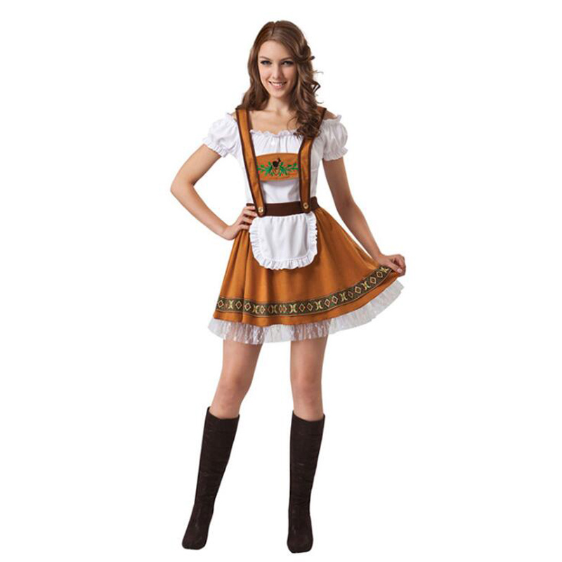 Image 2 - Man Germany Oktoberfest Costumes Fantasia Women Bavarian Beer Featival Cospaly Dress Adult Couple Party Maid Cloths Plus Size-in Holidays Costumes from Novelty & Special Use