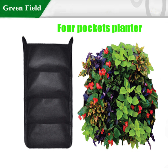 BrightGreen VGP1x4 Living Wall Planter With Mounting Strip,Vertical Garden  Planter, Indoor/Outdoor