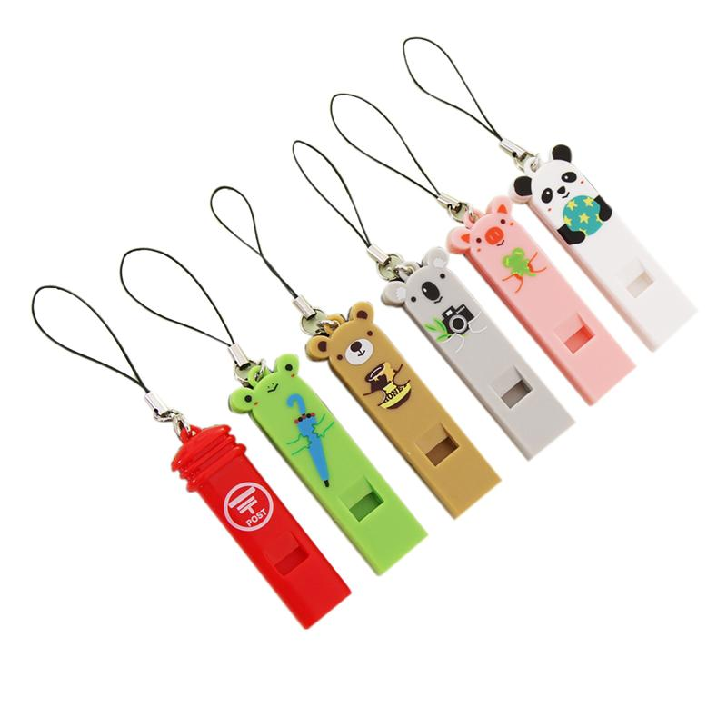Outdoor Cartoon Whistle Music Instrument With Lanyard (Random Color)
