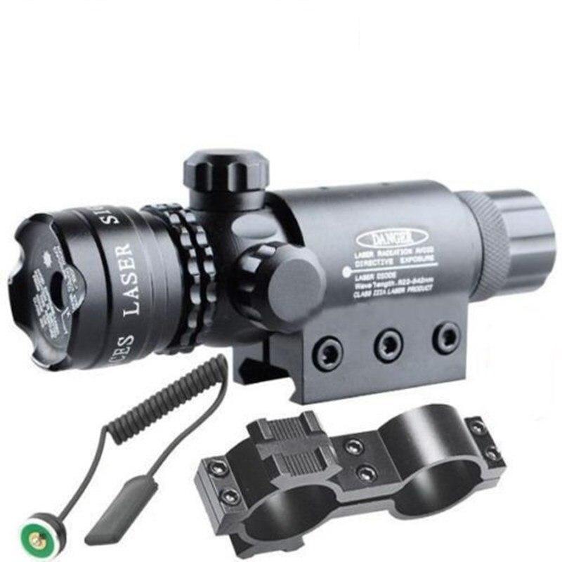 5 mw 532nm Red Laser-anblick-bereich Tactical Green Laser mit Picatinny-schiene Barrel Mount für Gewehre AR 15 und schrotflinten
