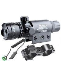 5 mw 532nm Red Laser Sight Scope Tactical Laser Verde com Montagem Picatinny Rail Barrel Monte para Rifles de AR 15 e espingardas